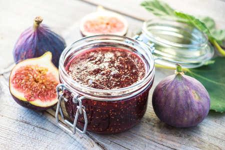 Fig Marmalade Stock Photo