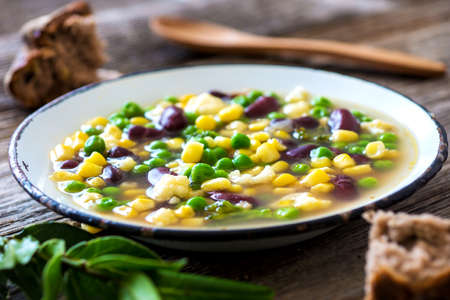 beans soup: Fresh vegetable soup