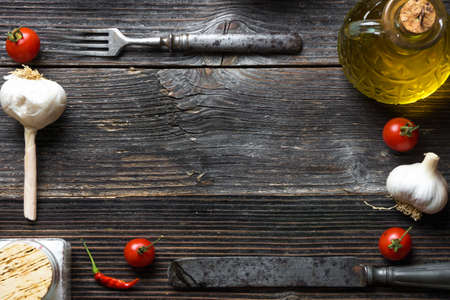 aceite de cocina: Food frame background