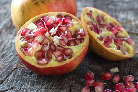 medium group of object: Juicy pomegranates