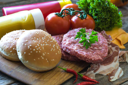 onion: Ingredients for homemade burger