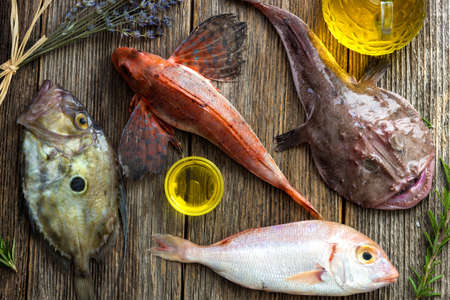 saltwater fish: Fresh saltwater fish Stock Photo