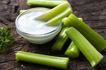 Celery sticks with dip