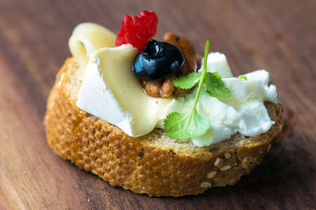 canapes: Cheese Canapes Stock Photo