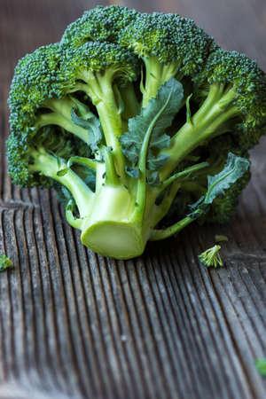 tilt views: Organic broccoli