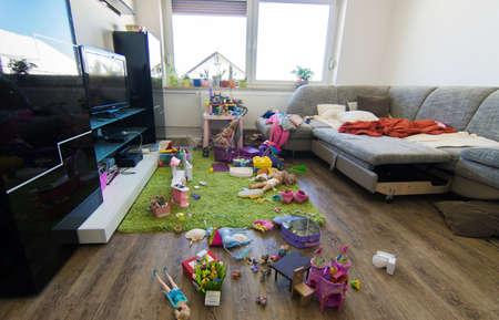 Brudny pokój Zdjęcie Seryjne