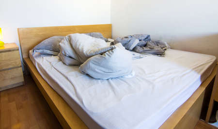unmade: An unmade bed