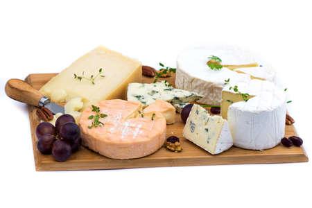 tabla de quesos: ración de queso francés Foto de archivo