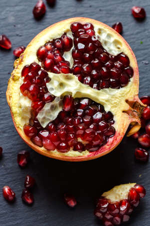 juicy: Red juicy pomegranate