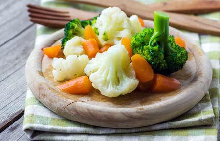 Gestoomde groenten close-up