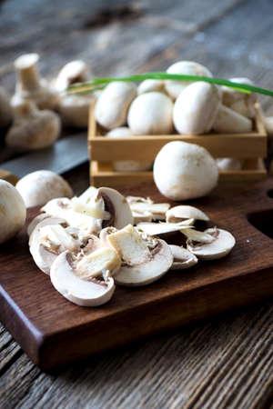 Frais champignons de Paris blancs Banque d'images