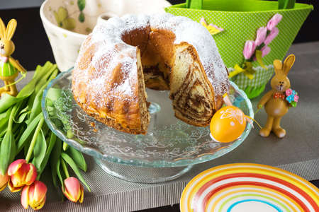 slovenian: Potica, Roll with walnuts. Slovenian dessert Stock Photo