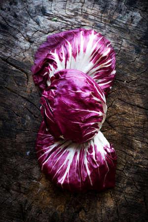 radicchio: Fresh Radicchio salad on  wooden background