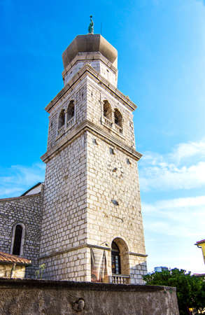 Krk town on Krk island, Croatia, Europe. Stock Photo