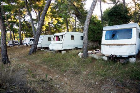 turistic: Old   abandoned turistic caravan near Mali losinj