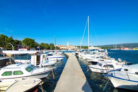 krk: Krk town on Krk island, Croatia, Europe. Stock Photo