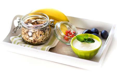 processed grains: Healthy Breakfast Stock Photo