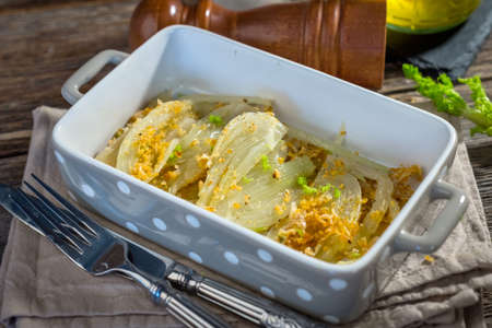 fennel: Baked Fennel with Parmesan
