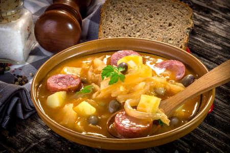 slovenian: Jota- traditional slovenian food Stock Photo