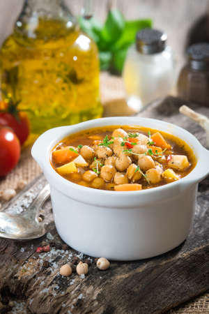 Chick pea stew with vegetable Archivio Fotografico