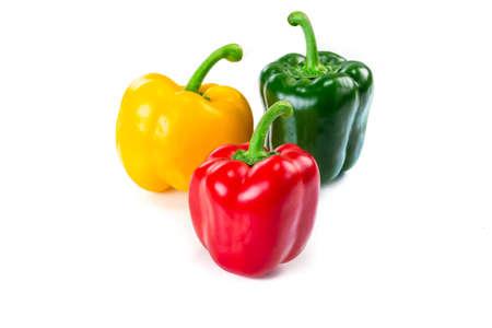 Sweet bell pepper isoalted on white