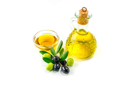 Organic olive oil with  olives
