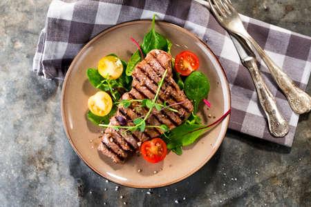 Grilled beef steak Standard-Bild