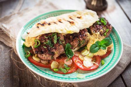 Fresh tasty homemade  burger  Standard-Bild