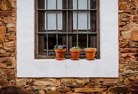 antique vase: window Stock Photo
