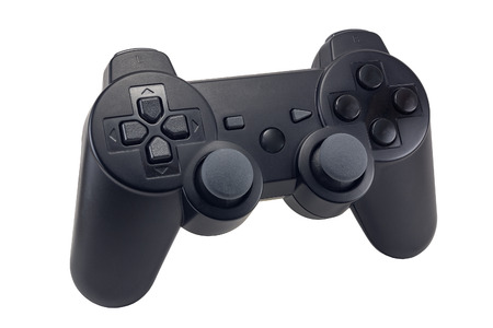 game joystick, wireless controller, game pad, game console isolated on white background