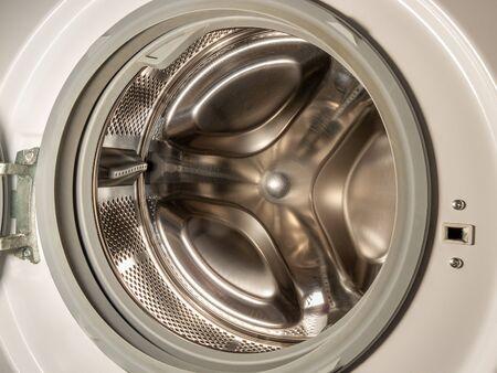 El tambor de la lavadora closeup Foto de archivo