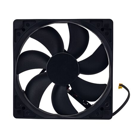 computer fan isolated on white background, high resolution