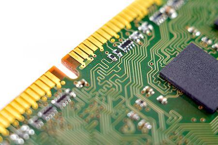 sistema e memoria principale, memoria ad accesso casuale, dettagli del computer, primo piano, alta risoluzione, isolato su sfondo bianco