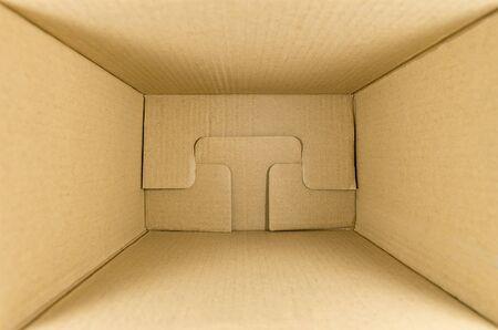 cardboard box for parcels inside, look inside, mock up, copyspace Stock fotó