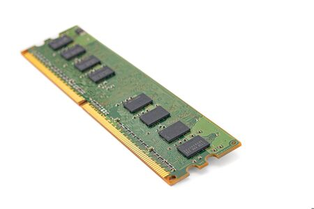 computer RAM, system memory, main memory, random access memory, internal memory, onboard, computer detail, close-up, high resolution, isolated on white background Reklamní fotografie
