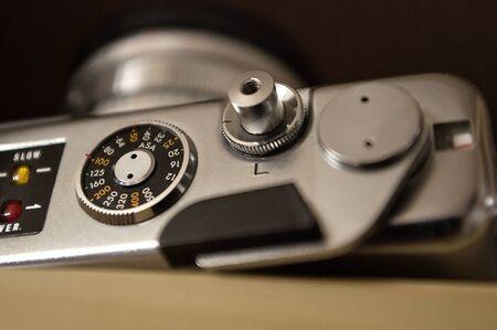 vintage cameras, iso asa control disk Stock Photo