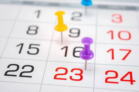 pin on calendar on last date of month, end of month, reports, end of work, deadline