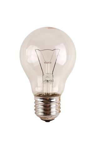 obsolete uneconomical and unecological incandescent bulb with tungsten filament