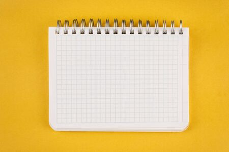 Notepad open on a blank page against yellow background