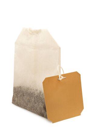 tea bag isolated on white background Banco de Imagens