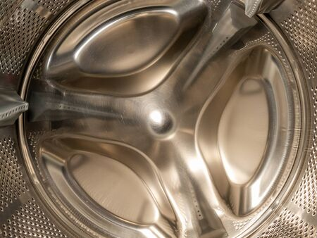 the drum of the washing machine closeup Banco de Imagens