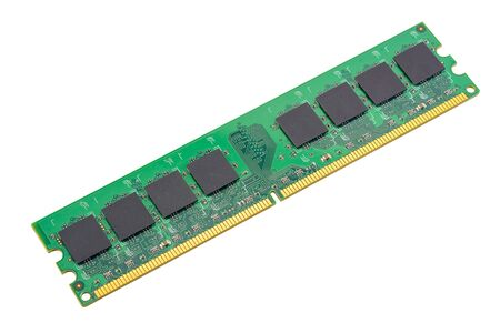 computer RAM, system memory, main memory, random access memory, internal memory, onboard, computer detail, close-up, high resolution, isolated on white background