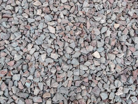 smooth background of small stones, pebble background, design, abstract background, copy space, mock up Banco de Imagens