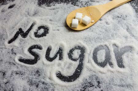 the inscription of sugar-free sugar, caries prevention, dental health care, causes of carious lesions, diabetes, obesity, no sugar