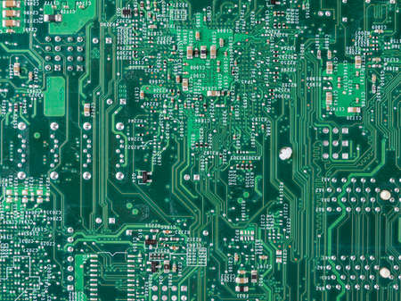 printed circuit motherboard for the server, computer workstation, processor system on a background, computer assembly and repair, selection of computer components
