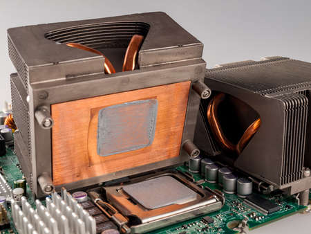 cooling fan with cpu in the computer system unit, cooling the computer air, repair and upgrade, cooling computer components