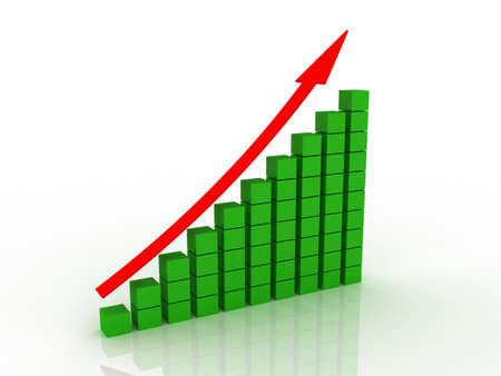Diagram an arrow isolated on white background Stock Photo - 11926536