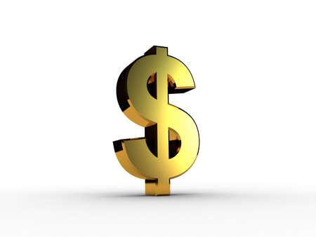 3d dollar gold Stock Photo - 11926523