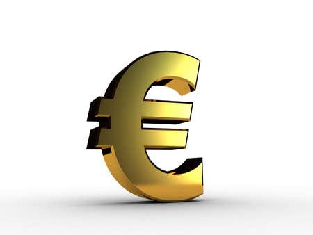 3d euro gold Stock Photo - 11926526