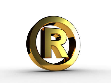 3D trademark gold photo